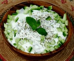 Cucumber Salad with Probiotic Yoghurt